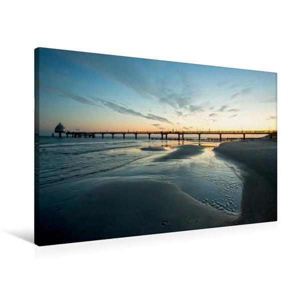 Premium Textil-Leinwand 90 cm x 60 cm quer, Urlaubsparadies Fischland Darß | Wandbild, Bild auf Keilrahmen, Fertigbild auf echter Leinwand, Leinwanddruck - Coverbild