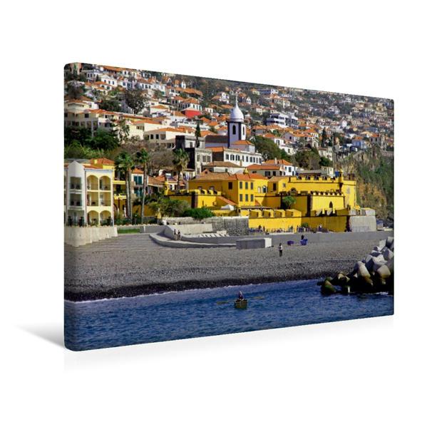 Premium Textil-Leinwand 45 cm x 30 cm quer, Sao Tiago | Wandbild, Bild auf Keilrahmen, Fertigbild auf echter Leinwand, Leinwanddruck - Coverbild