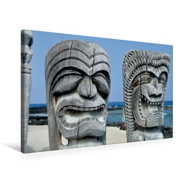 Premium Textil-Leinwand 75 cm x 50 cm quer, Puuhonua o Honaunau, Big Island | Wandbild, Bild auf Keilrahmen, Fertigbild auf echter Leinwand, Leinwanddruck - Coverbild