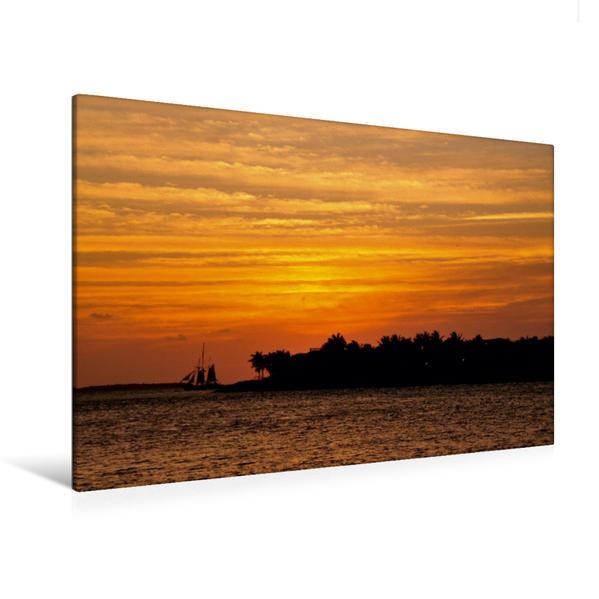 Premium Textil-Leinwand 120 cm x 80 cm quer, Key West, Promenade, Florida | Wandbild, Bild auf Keilrahmen, Fertigbild auf echter Leinwand, Leinwanddruck - Coverbild