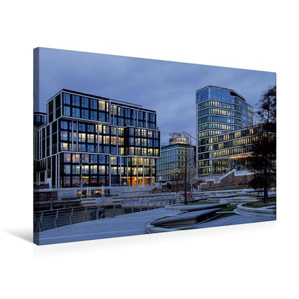 Premium Textil-Leinwand 75 cm x 50 cm quer, Hafencity | Wandbild, Bild auf Keilrahmen, Fertigbild auf echter Leinwand, Leinwanddruck - Coverbild