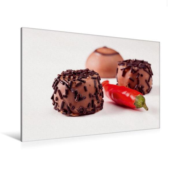 Premium Textil-Leinwand 120 cm x 80 cm quer, Hot Chocolate | Wandbild, Bild auf Keilrahmen, Fertigbild auf echter Leinwand, Leinwanddruck - Coverbild