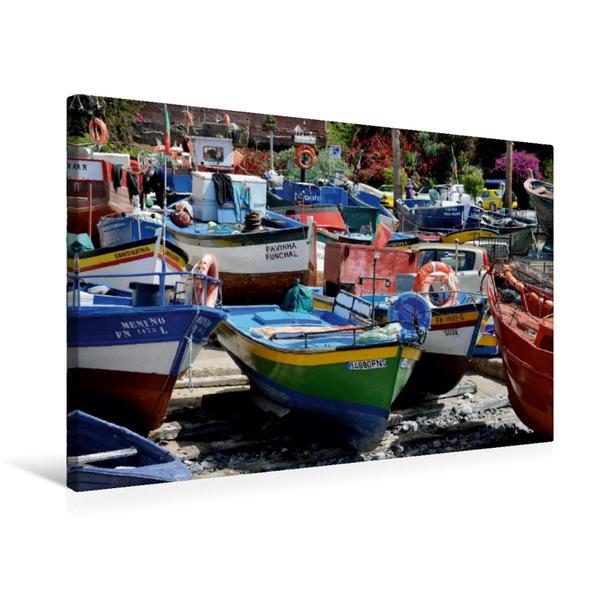Premium Textil-Leinwand 75 cm x 50 cm quer, Fischerboote | Wandbild, Bild auf Keilrahmen, Fertigbild auf echter Leinwand, Leinwanddruck - Coverbild
