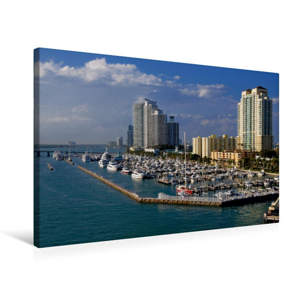 Premium Textil-Leinwand 75 cm x 50 cm quer, Miami, Florida   Wandbild, Bild auf Keilrahmen, Fertigbild auf echter Leinwand, Leinwanddruck - Coverbild