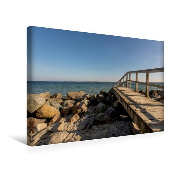 Premium Textil-Leinwand 45 cm x 30 cm quer, Brodtner Ufer | Wandbild, Bild auf Keilrahmen, Fertigbild auf echter Leinwand, Leinwanddruck - Coverbild