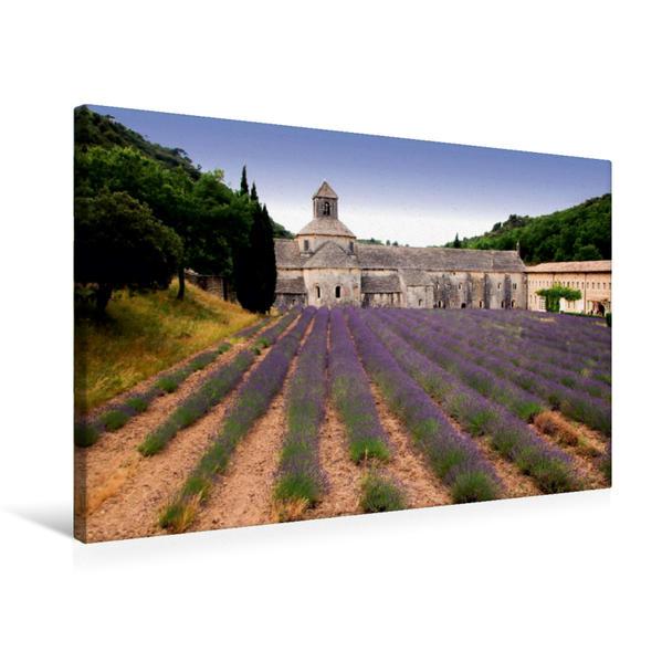 Premium Textil-Leinwand 75 cm x 50 cm quer, Kloster Sénanque   Wandbild, Bild auf Keilrahmen, Fertigbild auf echter Leinwand, Leinwanddruck - Coverbild