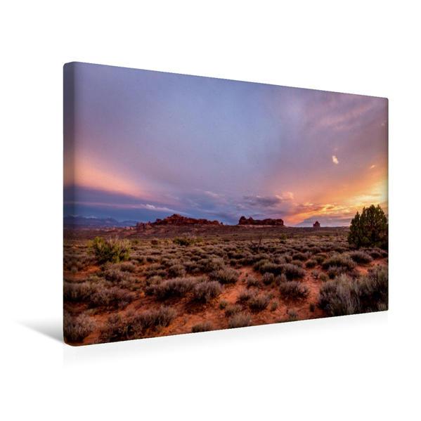 Premium Textil-Leinwand 45 cm x 30 cm quer, Arches National Park | Wandbild, Bild auf Keilrahmen, Fertigbild auf echter Leinwand, Leinwanddruck - Coverbild