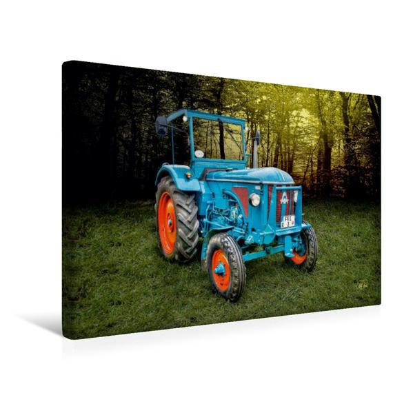 Premium Textil-Leinwand 45 cm x 30 cm quer, Oldtimer Traktor Hanomag | Wandbild, Bild auf Keilrahmen, Fertigbild auf echter Leinwand, Leinwanddruck - Coverbild