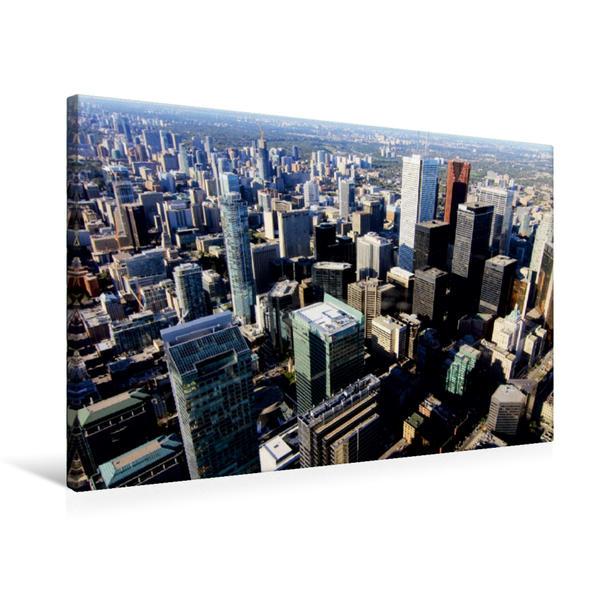 Premium Textil-Leinwand 75 cm x 50 cm quer, Blick vom CN - Tower | Wandbild, Bild auf Keilrahmen, Fertigbild auf echter Leinwand, Leinwanddruck - Coverbild