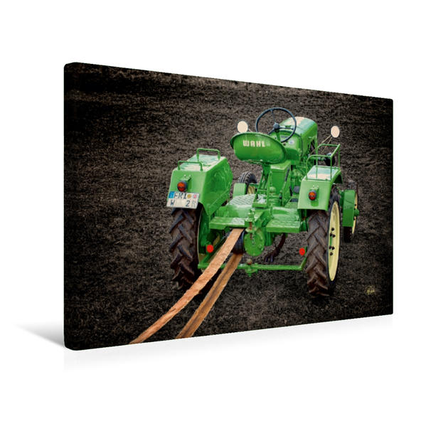 Premium Textil-Leinwand 45 cm x 30 cm quer, Oldtimer Traktor Wahl   Wandbild, Bild auf Keilrahmen, Fertigbild auf echter Leinwand, Leinwanddruck - Coverbild