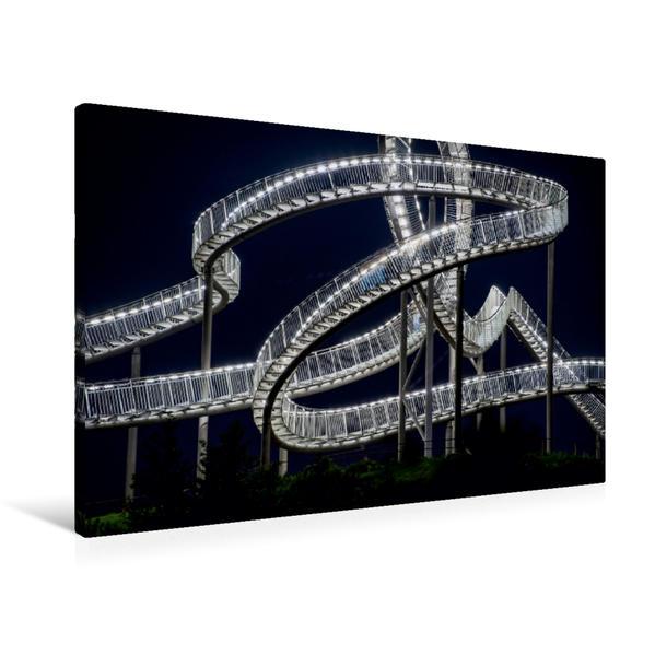 Premium Textil-Leinwand 90 cm x 60 cm quer, Die Schlange auf der Halde - Tiger and Turtle Magic Mountain | Wandbild, Bild auf Keilrahmen, Fertigbild auf echter Leinwand, Leinwanddruck - Coverbild