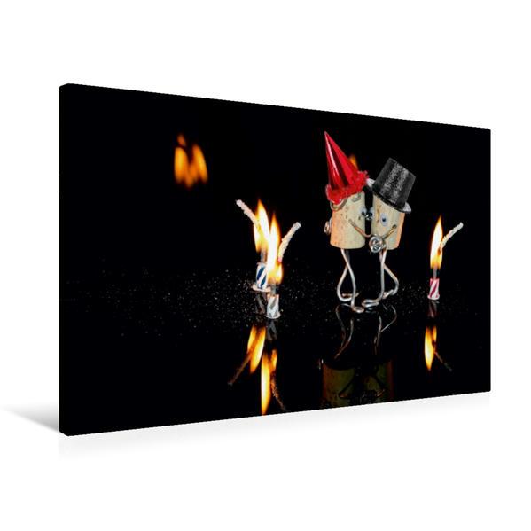 Premium Textil-Leinwand 75 cm x 50 cm quer, Eine Liebeserklärung | Wandbild, Bild auf Keilrahmen, Fertigbild auf echter Leinwand, Leinwanddruck - Coverbild