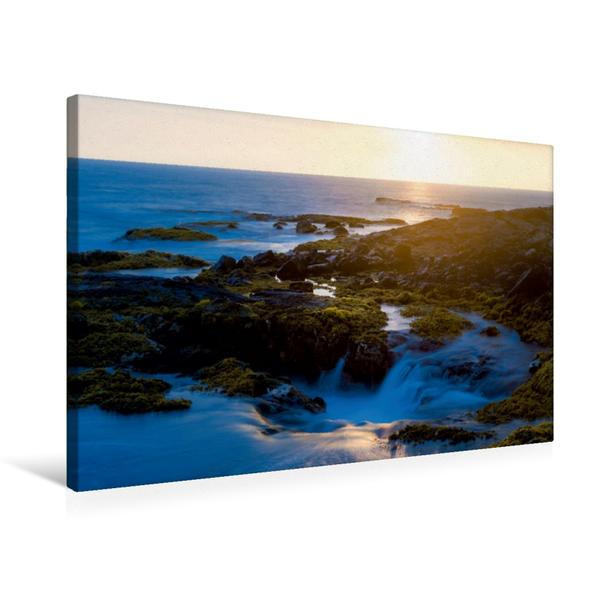 Premium Textil-Leinwand 75 cm x 50 cm quer, Sinkhole am Wawaloli Beach Park | Wandbild, Bild auf Keilrahmen, Fertigbild auf echter Leinwand, Leinwanddruck - Coverbild