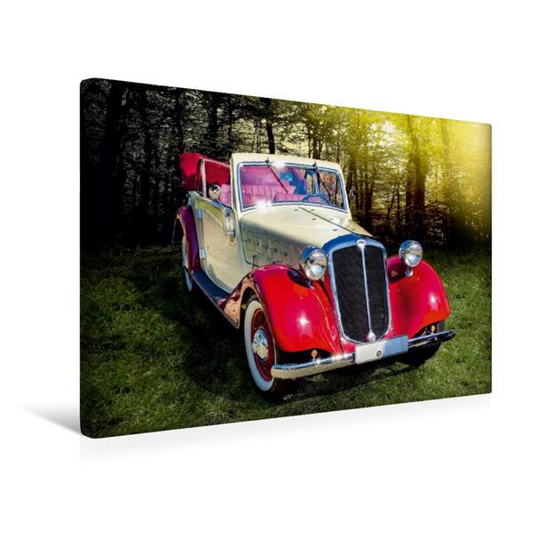 Premium Textil-Leinwand 45 cm x 30 cm quer, Oldtimer Hansa 1700 Cabrio | Wandbild, Bild auf Keilrahmen, Fertigbild auf echter Leinwand, Leinwanddruck - Coverbild