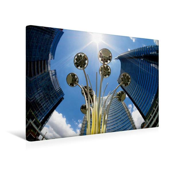 Premium Textil-Leinwand 45 cm x 30 cm quer, Mailand, neue Wolkenkratzer | Wandbild, Bild auf Keilrahmen, Fertigbild auf echter Leinwand, Leinwanddruck - Coverbild