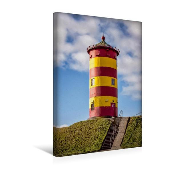 Premium Textil-Leinwand 30 cm x 45 cm hoch, Pilsum, Krummhörn, Niedersachsen | Wandbild, Bild auf Keilrahmen, Fertigbild auf echter Leinwand, Leinwanddruck - Coverbild