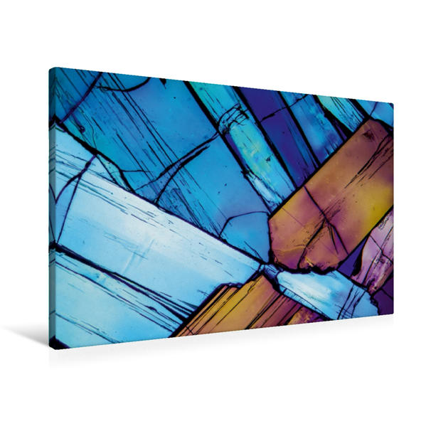 Premium Textil-Leinwand 90 cm x 60 cm quer, Hydrochinon 2 | Wandbild, Bild auf Keilrahmen, Fertigbild auf echter Leinwand, Leinwanddruck - Coverbild