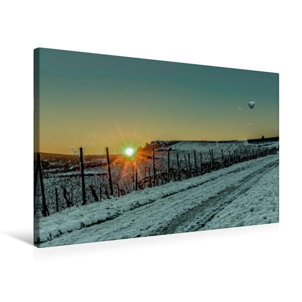 Premium Textil-Leinwand 75 cm x 50 cm quer, Rüdesheimer Berg Roseneck | Wandbild, Bild auf Keilrahmen, Fertigbild auf echter Leinwand, Leinwanddruck - Coverbild