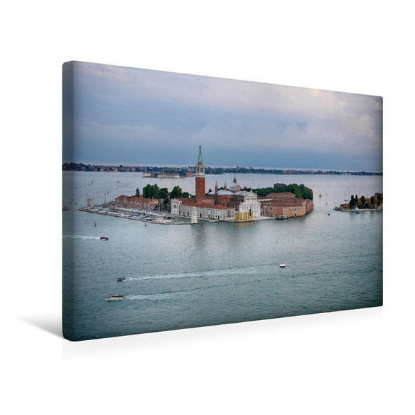 Premium Textil-Leinwand 45 cm x 30 cm quer, San Giorgio Maggiore | Wandbild, Bild auf Keilrahmen, Fertigbild auf echter Leinwand, Leinwanddruck - Coverbild