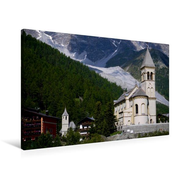 Premium Textil-Leinwand 90 cm x 60 cm quer, Kirche St. Michael | Wandbild, Bild auf Keilrahmen, Fertigbild auf echter Leinwand, Leinwanddruck - Coverbild