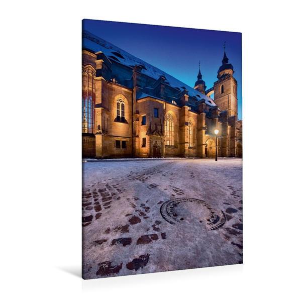 Premium Textil-Leinwand 80 cm x 120 cm  hoch, Stadtkirche | Wandbild, Bild auf Keilrahmen, Fertigbild auf echter Leinwand, Leinwanddruck - Coverbild