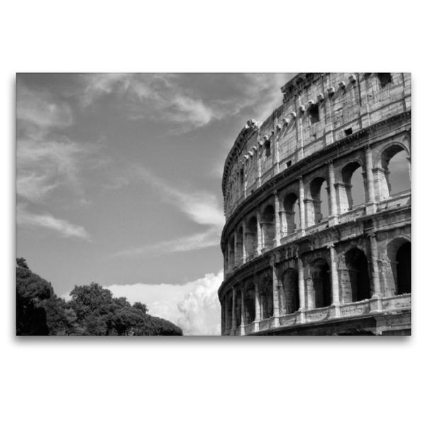 Premium Textil-Leinwand 120 cm x 80 cm quer, Kolosseum | Wandbild, Bild auf Keilrahmen, Fertigbild auf echter Leinwand, Leinwanddruck - Coverbild