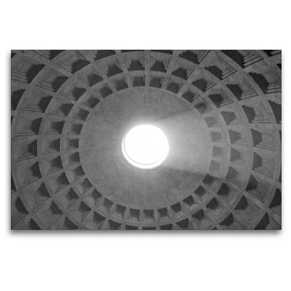 Premium Textil-Leinwand 120 cm x 80 cm quer, Kuppel im Pantheon in Rom | Wandbild, Bild auf Keilrahmen, Fertigbild auf echter Leinwand, Leinwanddruck - Coverbild