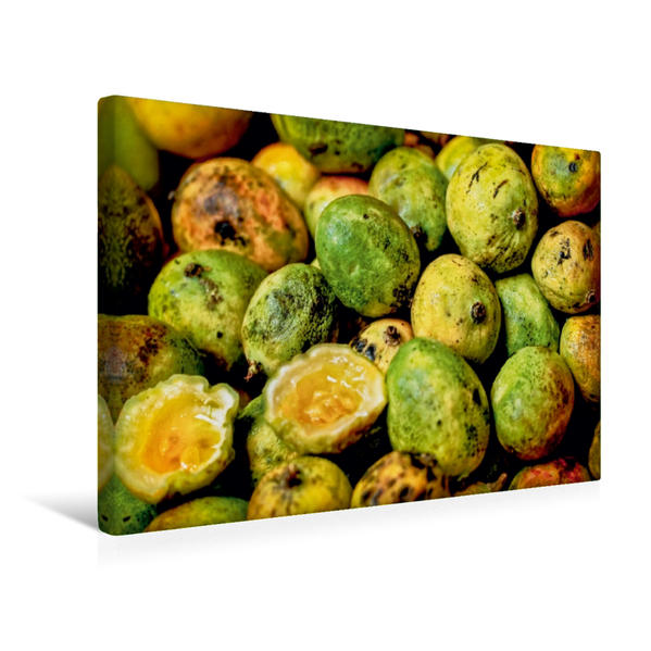 Premium Textil-Leinwand 45 cm x 30 cm quer, Limetten Maracuja | Wandbild, Bild auf Keilrahmen, Fertigbild auf echter Leinwand, Leinwanddruck - Coverbild