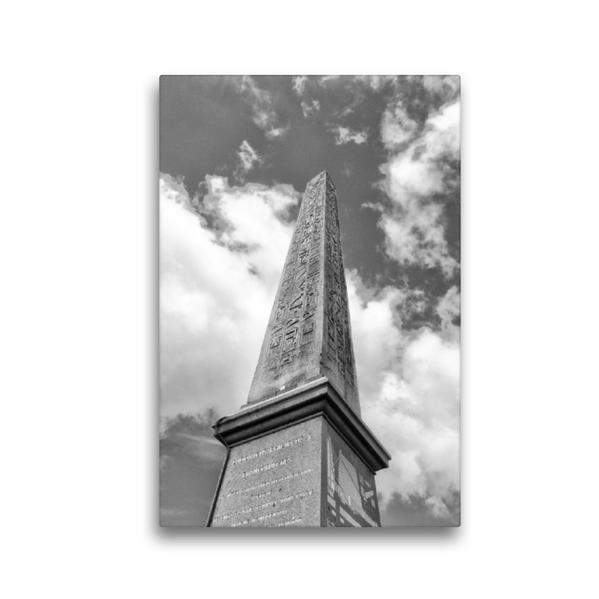 Premium Textil-Leinwand 30 cm x 45 cm hoch, Obelisk von Luxor in Paris   Wandbild, Bild auf Keilrahmen, Fertigbild auf echter Leinwand, Leinwanddruck - Coverbild