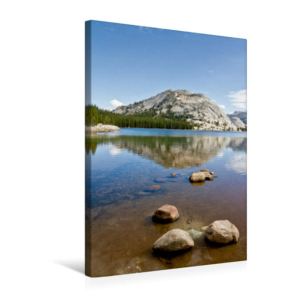 Premium Textil-Leinwand 50 cm x 75 cm hoch, YOSEMITE VALLEY Tenaya Lake | Wandbild, Bild auf Keilrahmen, Fertigbild auf echter Leinwand, Leinwanddruck - Coverbild
