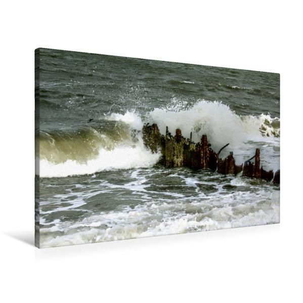 Premium Textil-Leinwand 90 cm x 60 cm quer, Buhne aus Metall | Wandbild, Bild auf Keilrahmen, Fertigbild auf echter Leinwand, Leinwanddruck - Coverbild