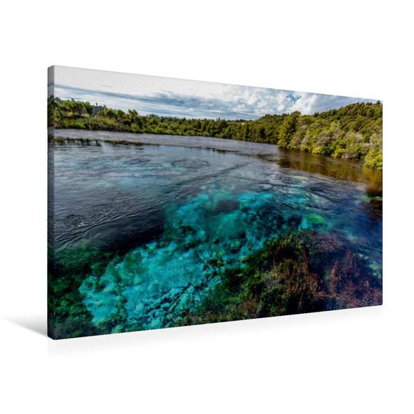 Premium Textil-Leinwand 90 cm x 60 cm quer, Te Waikoropuru | Wandbild, Bild auf Keilrahmen, Fertigbild auf echter Leinwand, Leinwanddruck - Coverbild