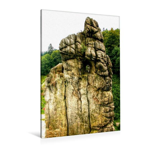 Premium Textil-Leinwand 80 cm x 120 cm  hoch, Blick zum Observatorium | Wandbild, Bild auf Keilrahmen, Fertigbild auf echter Leinwand, Leinwanddruck - Coverbild