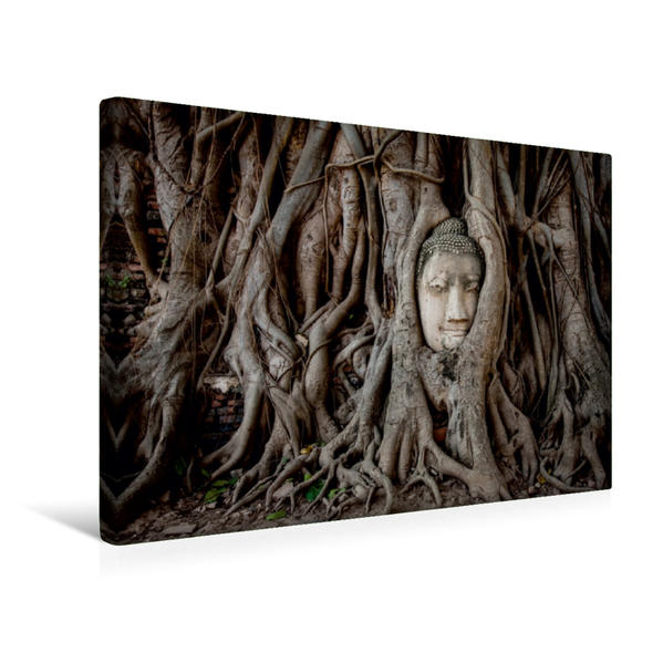 Premium Textil-Leinwand 45 cm x 30 cm quer, Wat Mahathat | Wandbild, Bild auf Keilrahmen, Fertigbild auf echter Leinwand, Leinwanddruck - Coverbild
