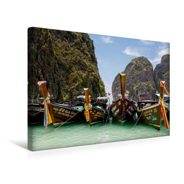 Premium Textil-Leinwand 45 cm x 30 cm quer, Phi Phi Insel | Wandbild, Bild auf Keilrahmen, Fertigbild auf echter Leinwand, Leinwanddruck - Coverbild