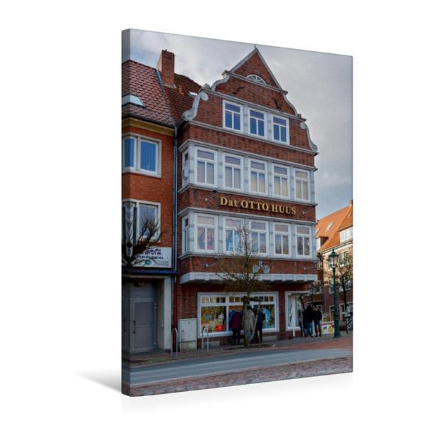 Premium Textil-Leinwand 50 cm x 75 cm hoch, Dat Otto Huus in Emden, Ostfriesland   Wandbild, Bild auf Keilrahmen, Fertigbild auf echter Leinwand, Leinwanddruck - Coverbild