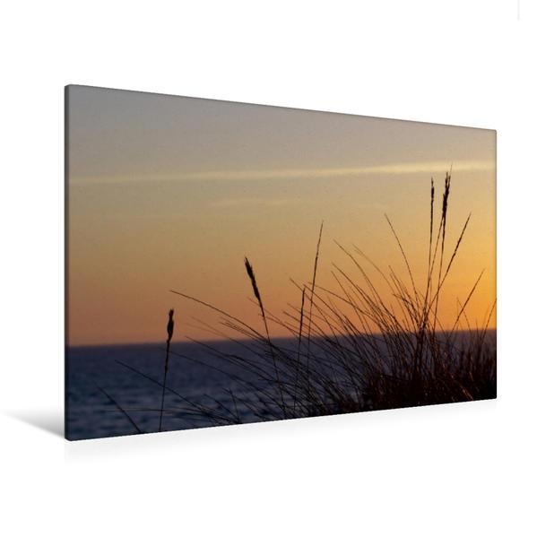 Premium Textil-Leinwand 120 cm x 80 cm quer, Abendstimmung   Wandbild, Bild auf Keilrahmen, Fertigbild auf echter Leinwand, Leinwanddruck - Coverbild