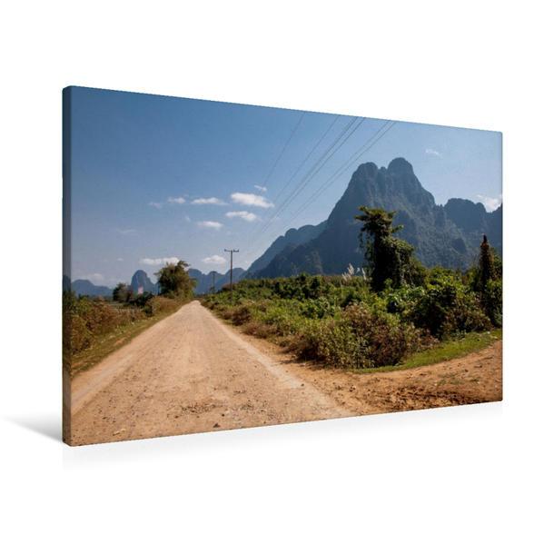 Premium Textil-Leinwand 90 cm x 60 cm quer, Karstberge | Wandbild, Bild auf Keilrahmen, Fertigbild auf echter Leinwand, Leinwanddruck - Coverbild