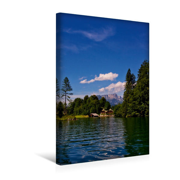 Premium Textil-Leinwand 30 cm x 45 cm hoch, Schönau am Königssee | Wandbild, Bild auf Keilrahmen, Fertigbild auf echter Leinwand, Leinwanddruck - Coverbild