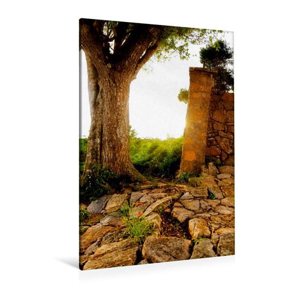 Premium Textil-Leinwand 80 cm x 120 cm  hoch, Ein Motiv aus dem Kalender Kubanische Aussichten | Wandbild, Bild auf Keilrahmen, Fertigbild auf echter Leinwand, Leinwanddruck - Coverbild