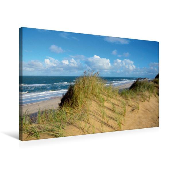 Premium Textil-Leinwand 75 cm x 50 cm quer, Dünenlandschaft | Wandbild, Bild auf Keilrahmen, Fertigbild auf echter Leinwand, Leinwanddruck - Coverbild