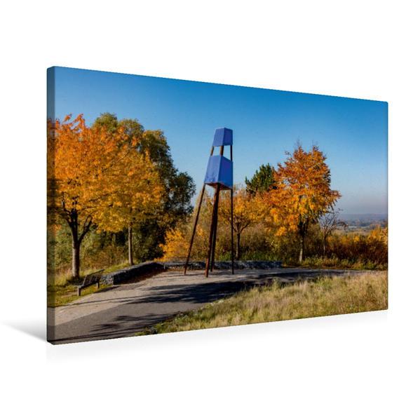 Premium Textil-Leinwand 75 cm x 50 cm quer, Kunst auf der Halde Großes Holz | Wandbild, Bild auf Keilrahmen, Fertigbild auf echter Leinwand, Leinwanddruck - Coverbild