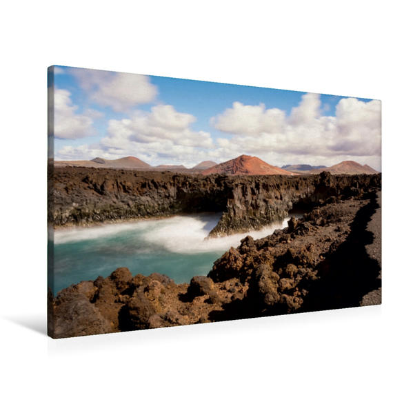 Premium Textil-Leinwand 90 cm x 60 cm quer, Ein Motiv aus dem Kalender Lanzarote - Insel der Feuerberge | Wandbild, Bild auf Keilrahmen, Fertigbild auf echter Leinwand, Leinwanddruck - Coverbild