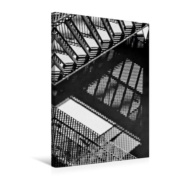 Premium Textil-Leinwand 50 cm x 75 cm hoch, Treppengrafik   Wandbild, Bild auf Keilrahmen, Fertigbild auf echter Leinwand, Leinwanddruck - Coverbild
