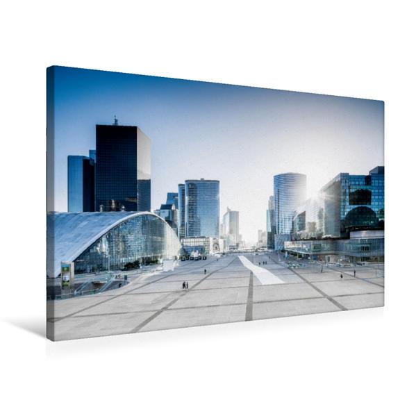 Premium Textil-Leinwand 75 cm x 50 cm quer, Paris La Défense | Wandbild, Bild auf Keilrahmen, Fertigbild auf echter Leinwand, Leinwanddruck - Coverbild