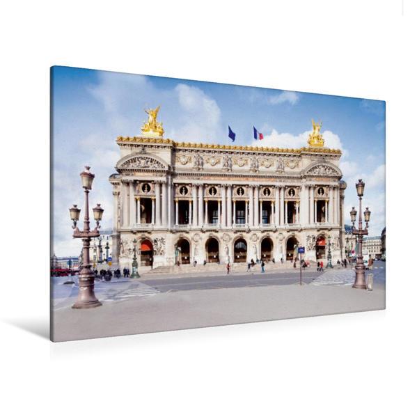 Premium Textil-Leinwand 120 cm x 80 cm quer, Pariser Oper | Wandbild, Bild auf Keilrahmen, Fertigbild auf echter Leinwand, Leinwanddruck - Coverbild