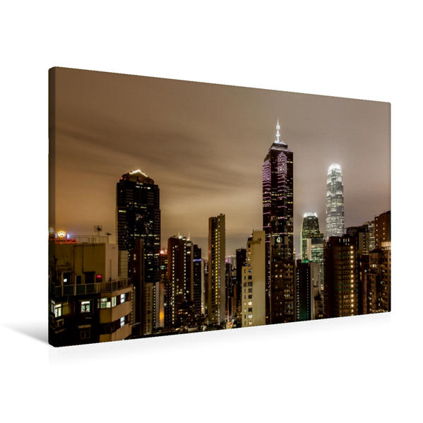 Premium Textil-Leinwand 90 cm x 60 cm quer, Häusermeer | Wandbild, Bild auf Keilrahmen, Fertigbild auf echter Leinwand, Leinwanddruck - Coverbild