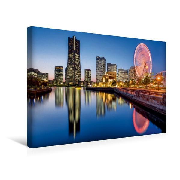 Premium Textil-Leinwand 45 cm x 30 cm quer, Yokohama Minato Mirai 21 | Wandbild, Bild auf Keilrahmen, Fertigbild auf echter Leinwand, Leinwanddruck - Coverbild