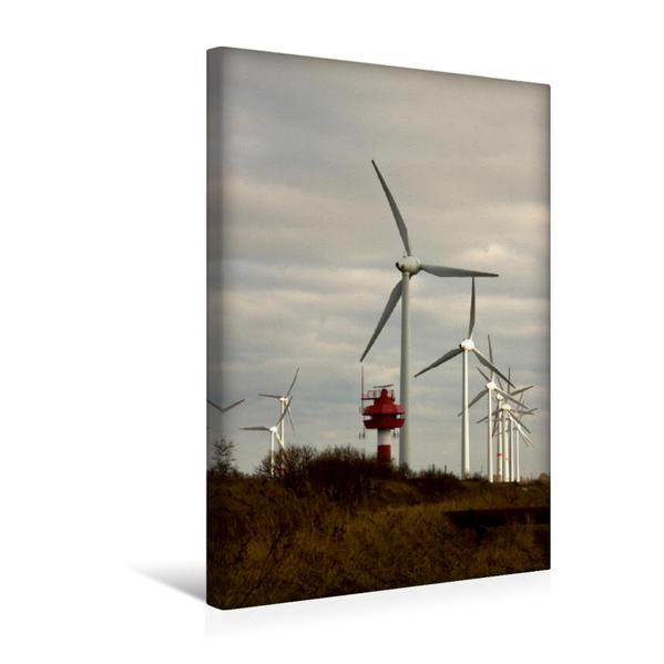 Premium Textil-Leinwand 30 cm x 45 cm hoch, Radarturm an der Windkraftanlage | Wandbild, Bild auf Keilrahmen, Fertigbild auf echter Leinwand, Leinwanddruck - Coverbild