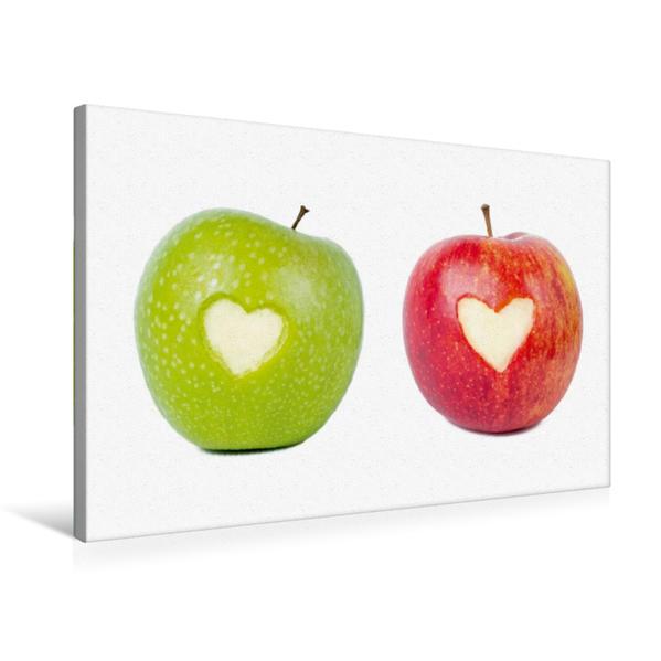 Premium Textil-Leinwand 75 cm x 50 cm quer, Liebesäpfel | Wandbild, Bild auf Keilrahmen, Fertigbild auf echter Leinwand, Leinwanddruck - Coverbild